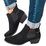QUINTRA Damen Chelsea Boots Kurzschaft Stiefel Vintage Stiefel Schlupfstiefel