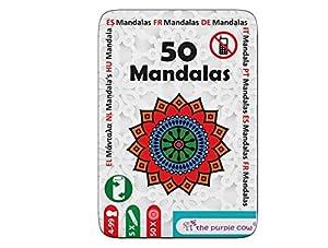 "The Purple Cow- The ""50"" Series - Juego To Go - 50   Mandalas Puzzles Diferentes para niños  7+"