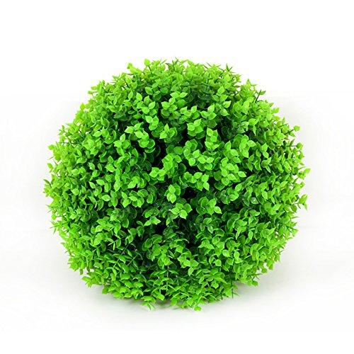Hete-supply Künstliche Eukalyptus Gras Ball Formschnittgärtnerei-Pflanze Kugel Buchsbaum-Kugel Kunststoff Blume für Hochzeit Decor Indoor/Outdoor, Urlaub und Andere Besondere