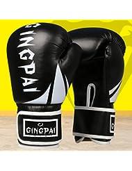 guantes de boxeo/ guantes de boxeo adulto saco de boxeo/ infantil guantes/Muay Thai pelea boxeo profesional guantes de boxeo/ guantes para hombres y mujeres-negro