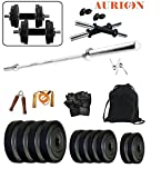 #10: AURION -PVC-30 KG COMBO5 Home Gym and Fitness Kit