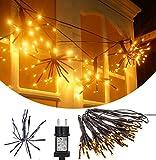 SMITHROAD LED Lichterkette Fenster Weihnachten Lichtervorhang 2M 100er mit DIY Flexiblen Zweigform 8 Modi 31V Niederspannung für Innen Außen Weihnachtsbeleuchtung IP44,Warmweiß