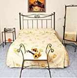TIENDAS FACTORY MUEBLES - Cabecero de forja nacional C-08, color Bronce para cama de 105 cms, (Varios colores y medidas disponibles)