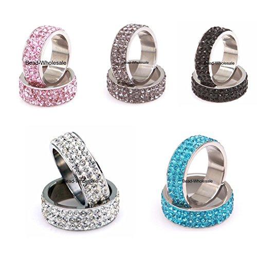 Schmuck Damen Ringe Ring 3 Reihe Österreich Kristall Frauen Ringe Für Hockzeit Verlobung Party (Innendurchmesser-18mm, (Modeschmuck Österreich)