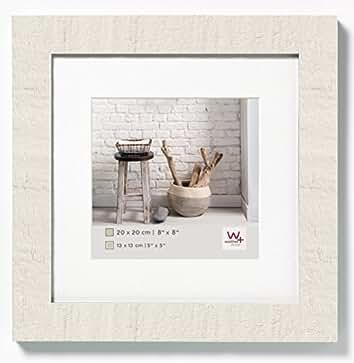 Walther Home Marco de Fotos, Madera, Blanco Polar, 20 x 20 cm: Amazon.es: Hogar