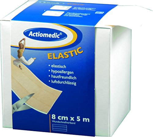 Actiomedic® ELASTIC Wundschnellverband Hautfarben 8 cm x 5 m