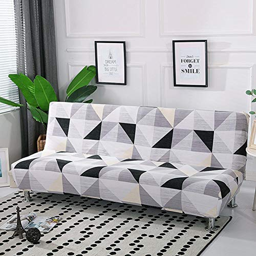 Funda de sofá cama sin brazos, protector de funda antideslizante elástica de...