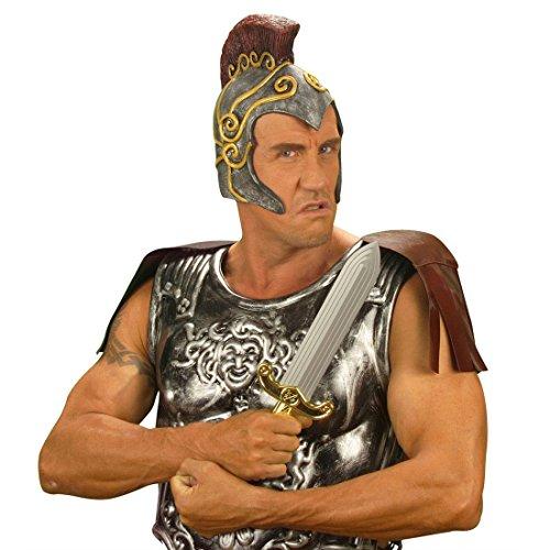 NET TOYS Latex Römerhelm Karneval Römer Helm Legionär Legion Zenturio römischer Offizier Fasnet Fasnacht Rüstungshelm