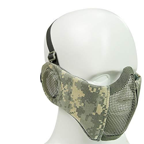 CAOMEI Helm Maske, Elite Ohrenschützer Maske Outdoor Reiten Kopfbedeckung System Outdoor Atmungsaktive Drahtmaske Ideale Maske Für Halloween, Cosplay, Kostümparty Und Movie Prop,E -