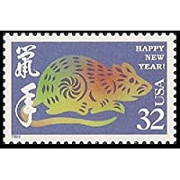 Chinese Lunar New Year: Year of the Rat, Full Sheet of 20 x 32-Cent Postage Stamps, USA 1996, Scott 3060 by USPS
