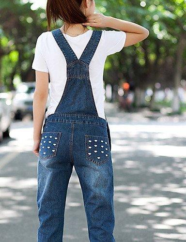 GSP-Pantalon Aux femmes Sexy / Décontracté Toile de jean dark blue-m