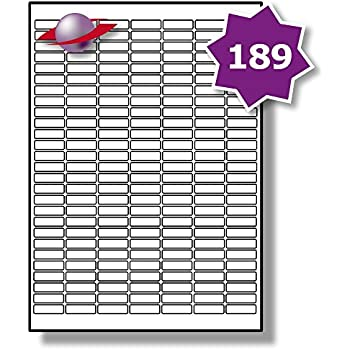 graphic regarding Small Printable Labels titled 189 For every Web page/Sheet, 5 Sheets (945 Sticky Low MICRO Labels), Label Planet® White Blank Matt Self-Adhesive Simple A4 Stickers, Printable With