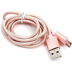DURAGADGET Câble USB Rose Gold pour Enceinte JBL GO 2, GO, Clip et Clip2, Flip 3 et Flip 4, Charge 2+, Xtreme et Trip - Port Micro USB