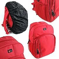 Duragadget Sac à Dos de Transport pour Creative iRoar Go, iRoar, Muvo 2 & 2c, Woof 3 Enceintes Portables - en Rouge