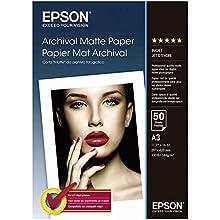 Epson Archival Matte Paper Matte paper A3 (297 x 420 mm) 189g / m2 50 sheets