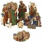LS-LebenStil LS Design Krippenfiguren Set 11teilig Weihnachten Krippe bis 10cm Maria Josef Jesus Schaf