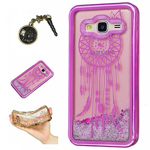 Preisvergleich Produktbild Laoke für Samsung Galaxy J3 (2016) J310 Hülle Schutzhülle Handy TPU Silikon Hülle Case Cover Durchsichtig Gel Tasche Bumper ( + Stöpsel Staubschutz) (1)