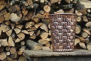 Vaso porta vaso portaoggetti cesta in rame lavorato a mano