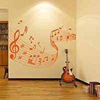 Musical Note Score Wall Stickers Musica Adesivo Art disponibile in