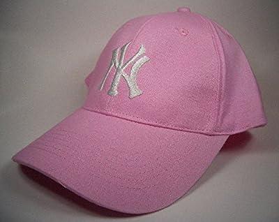 N.Y. Yankee Cap Logo Major League Rosa-Weiß Einheitsgröße von Genuine Merchandise bei Outdoor Shop
