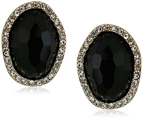 t-tahari-faceted-stone-button-gold-clip-on-earrings