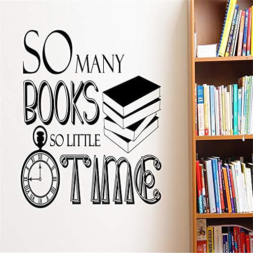 Kunst Wohnkultur SO Viele Bücher So Wenig Zeit Wandtattoo Vinyl Aufkleber Arbeitszimmer Bibliothek Dekoration Tapete 42 * 35 cm