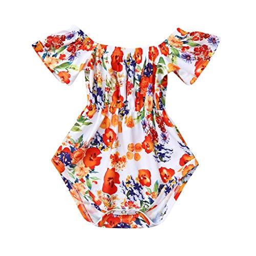 Jumpsuit Sommer Pwtchenty Sommerkleidung Spielanzug Set Outfits Blumendruck Strampler Baby Mädchen Kleidung Overall Bodys Einteiler Spieler Outfits