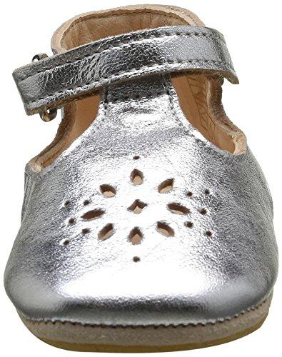 Easy Peasy Unisex Baby Lillyp Krabbel-& Hausschuhe Silber (058 Silver)