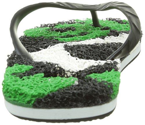 Globe Merkin-Matrix Unisex-Erwachsene Zehentrenner Schwarz (Black/White/Green)