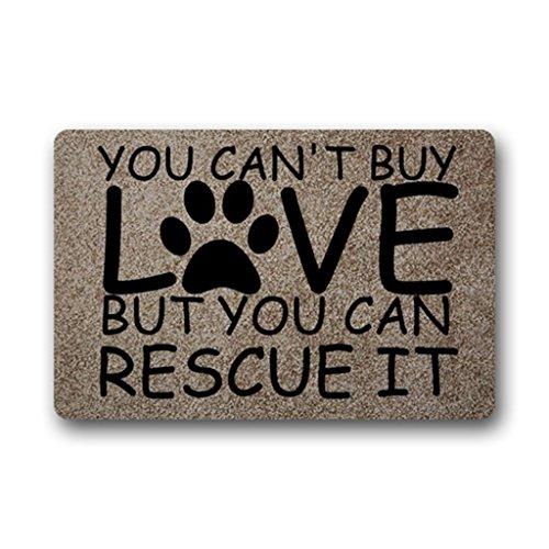 Eureya eigene Fußmatte können Sie Nicht kaufen, Liebe ist, Aber Man Rescue ES Rutschfeste Fußmatte Welcome Boden Fußmatte Innen Außen 40x 60cm