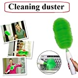 RK enterprise Creative Hand-Held, Sward Go Dust Electric Feather Spin Home Duster, Green. Electronic Motorised Cleaning Brush Set , car cleaning brush duster, cleaning duster, electronic duster for home cleaning, electronic dust cleaning brush,
