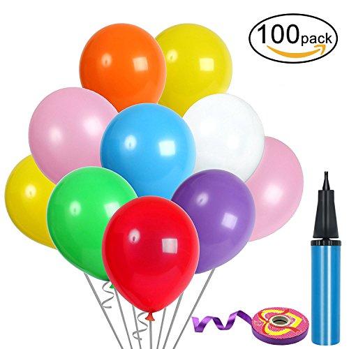 100-Pz-Palloncini-Colorati-Compleanno-12-pollici-Lattice-Palloncini-e-Pompa-e-Ribbon-Palloncini-Colorati-Misti-per-Feste-Matrimoni-Decorazione-30-cm-Palloncino-Colore-Casuale