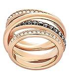 Swarovski Damen-Ring DYNAMIC Metall Swarovski Kristalle silber, 55 (17.5)