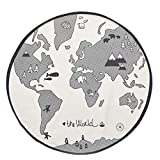 Junecat Mappa del Mondo Gioca Le stuoie di Cotone Neonato Fumetto Sviluppare Tappeto Bambino Carpet Boy Girl Coperta strisciante dei Bambini della stuoia del Gioco