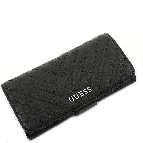 Guess Clutch Mit Reißverschluss An Der Rückseite (Guess Portemonnaie - Addison - File Clutch - Black)