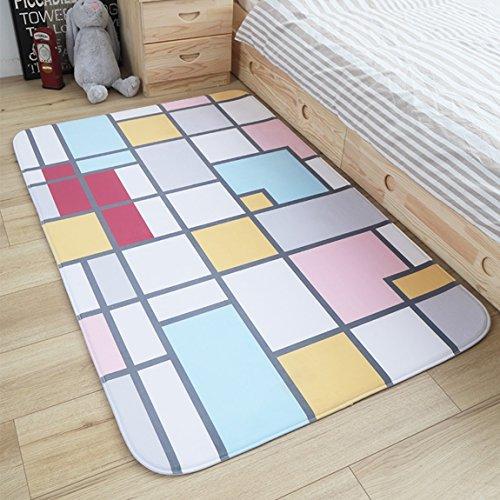 Hmy LRW Teppich-Wohnzimmer-Tee-Tabellen-Schlafzimmer-rechteckiges einfaches modernes Zimmer-Nachttisch-Teppich (Color : F)