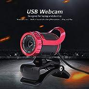 كاميرا الويب Lixada ، كاميرا ويب USB 2.0 كاميرا ويب مدمجة USB لامتصاص الصوت ومكبر فيديو ومكالمات للكمبيوتر الم