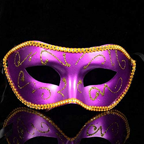 TWELVEMJMänner Frauen Maskerade Kostüm Venezianische Maskerade Maske Bösewicht Augenmaske Für Hochzeit Bithday Party Dekoration, Bild Farbe