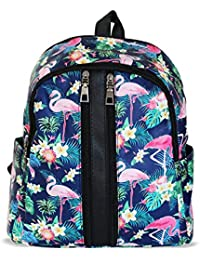 Tied Ribbons Faux Leather Stylish Backpack For Womens & Girls College School Coaching Casual Bag Daypack(Swan...