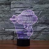 MFBis Laserpistole 3d Nachtlicht USB Aufladung Touch Tisch Schreibtisch Lamps7 Farbwechsel Lichter...