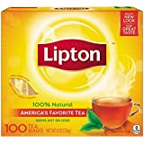 Lipton Tea Bags, Cup Size 100 Count, 8 Ounce Boxes (Pack Of 2) 200 Bags Total