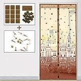 JIA-F-U Sommer (magnetische Anti - moskito - Vorhang), Tür und Fenster - verschlüsselung im Schlafzimmer - Vorhang semi - Permeable Garn-M-95x210cm(37x83inch)
