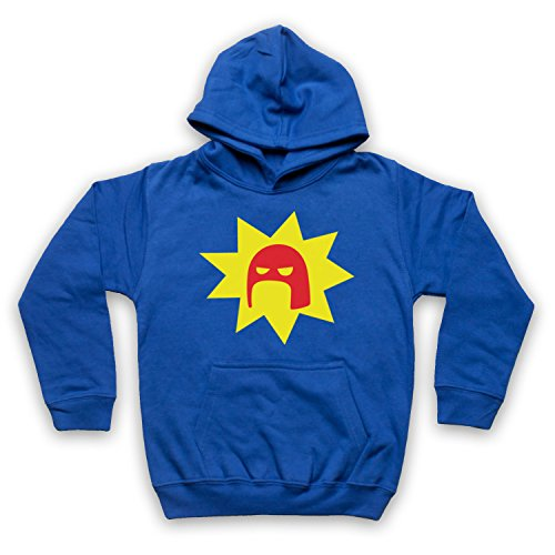 Inspiriert durch Super Crimson Bolt Logo Unofficial Kinder Kapuzensweater, Blau, 3-4 Jahren -
