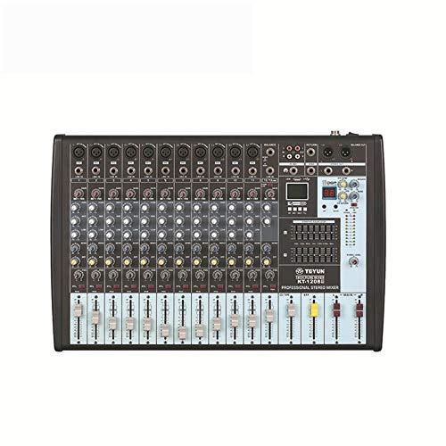 DJ controller Azionato Stazione Pure Mixer 12 canali Professionista Con MP3 16 tipi di effetti DSP con 7 bande Balanced Tuner supporto USB / SD Black Card All-In-One controller DJ ponte per Serato DJ