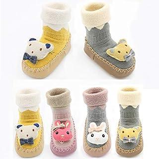 IGEMY_baby Socks Shoes,Newborn Baby Boys Girls Cartoon Rabbit Floor Socks Anti-Slip Baby Step Socks