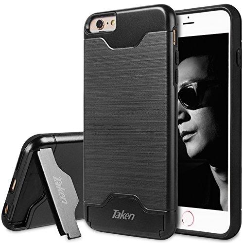 iPhone 6S Schutzhülle, iPhone 6Fall, übernommen Direct Slim Dual Layer Soft Silikon & Hard Back Cover Bumper Schutz Dämpfung & griffsicheres Kratzfest Hybrid Case für Apple 6/6S 4,7'Schwarz (Schutzhülle Iphone 6 Fällen)