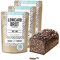 Organic Workout OW_006, Organic Workout LOWER-CARB-BROT-BACKMISCHUNG 3er Pack - 100% Bio | paleo | glutenfrei | eiweissbrot | ballaststoffreich | ohne Zuckerzusatz | ohne Getreide | hergestellt in Deutschland