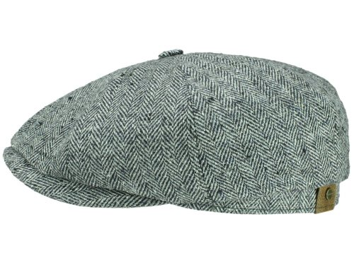 stetson-seide-tweed-hatteras-flat-cap-58-cm-grau