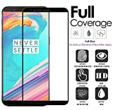#3: Dashmesh Shopping OnePlus 5T (Edge to Edge - Full Glue) , No Rainbow , No Dots, Perfect Glass Full Front Body Cover Tempered Full Glass Screen Protector Guard - Jet Black