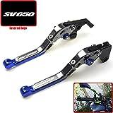 Blu & titanio regolabile moto leve freno frizione per Suzuki SV65019992000200120022003200420052006200720082009